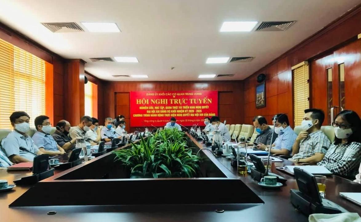Đảng ủy VATM: Tham dự Hội nghị trực tuyến do Đảng ủy Khối các cơ quan Trung ương tổ chức