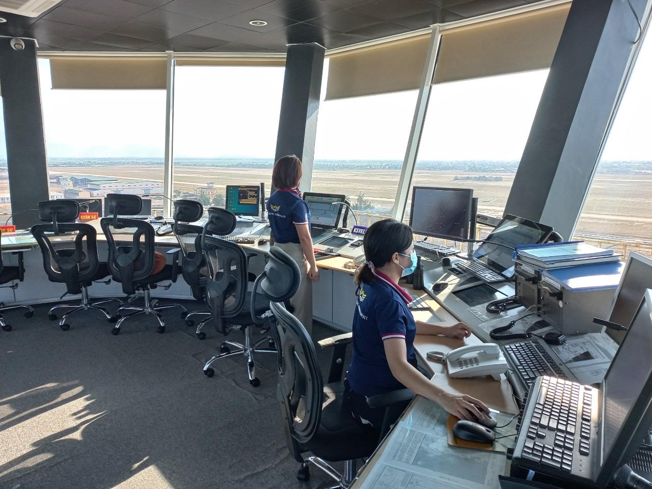 Đài Kiểm soát không lưu Tuy Hòa triển khai ứng phó dịch COVID-19 cấp độ 3