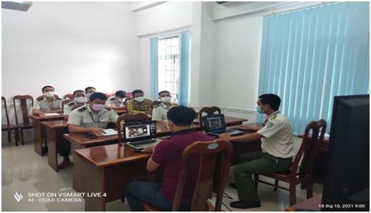 Huấn luyện định kỳ nghiệp vụ An ninh kiểm soát tại Đài Kiểm soát không lưu Cà Mau
