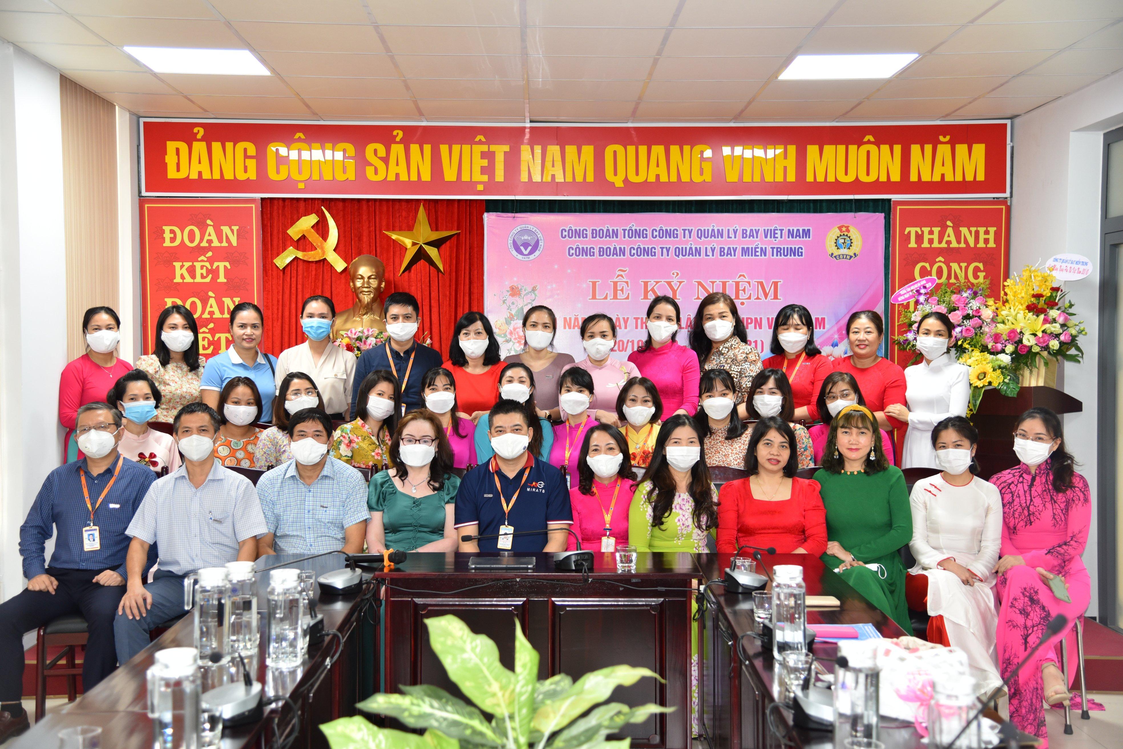 Chào mừng kỷ niệm 91 năm Ngày thành lập Hội LHPN Việt Nam tại Công ty Quản lý bay miền Trung