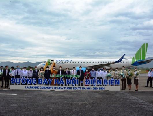 Đài Kiểm soát không lưu Điện Biên tiếp nhận điều hành bay máy bay phản lực Embraer 190