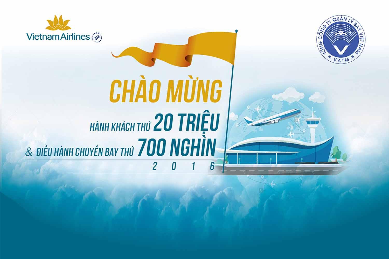 THÔNG CÁO BÁO CHÍ: Lễ đón hành khách thứ 20 triệu của TCT Hàng không Việt Nam và chuyến bay thứ 700 nghìn của TCT Quản lý bay Việt Nam năm 2016