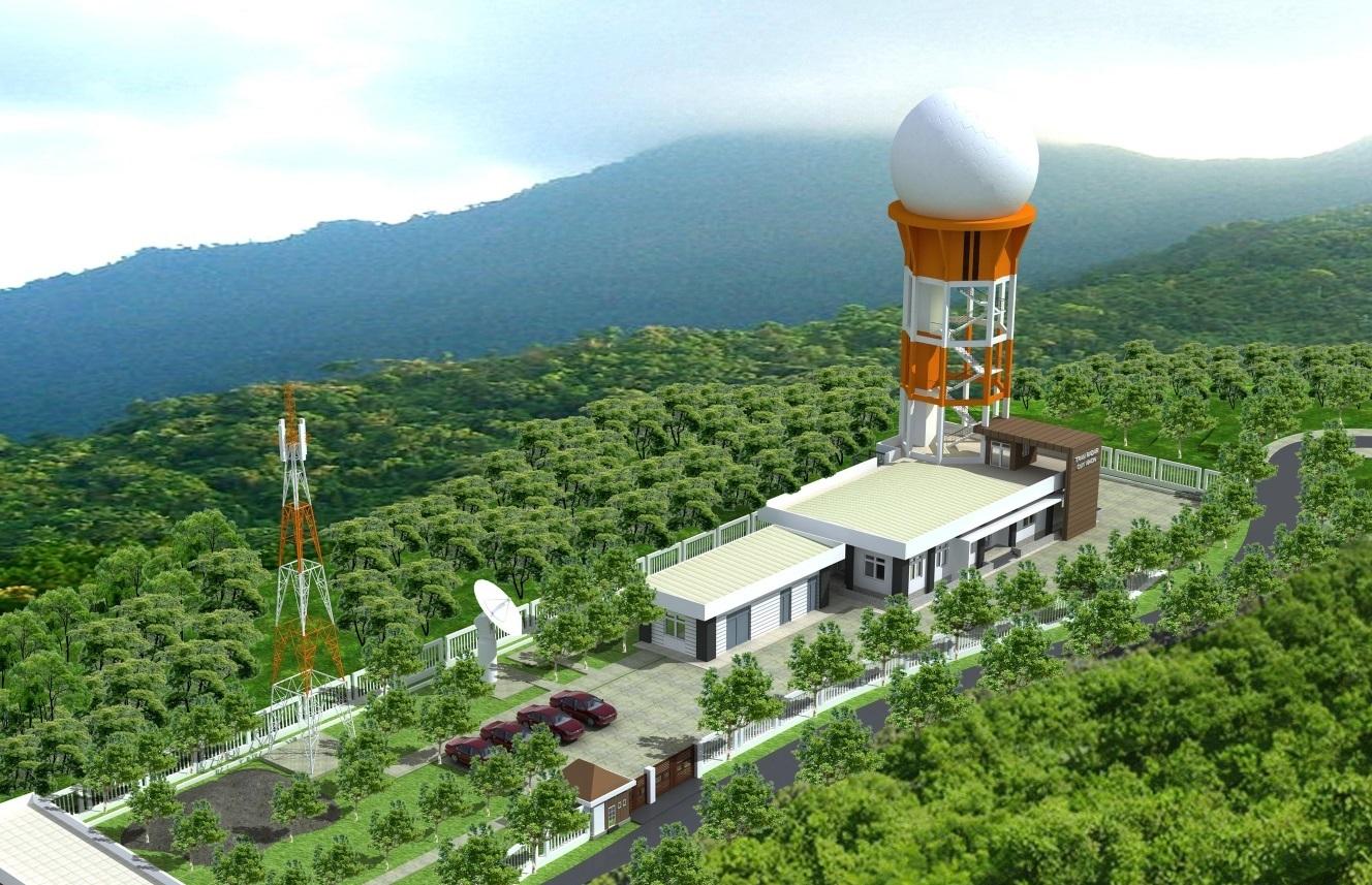 Phối cảnh tổng thể Trạm Radar Quy Nhơn